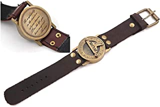 f3990f04060f Roorkee Instruments India Wrist Watch Sundial Cuff with Quote Go  Confidently in The Direction of Your