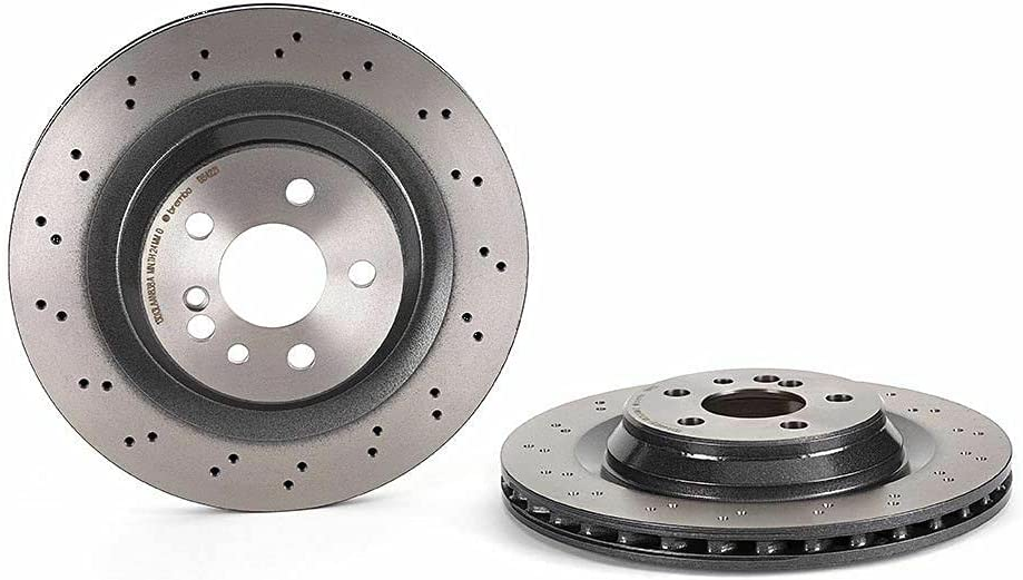 Rear Left or Right Drilled Coated Bargain El Paso Mall Brake Rotor Compati 330mm Disc