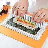 Ruluti Cocinar Herramientas Alga Nori para Sushi Comida Japonesa Sushi Nori Maker Balanceo Matsrodillo Herramientas