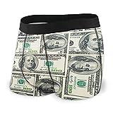 Yaxinduobao Calzoncillos Tipo bóxer para Hombre Ropa Interior Dinero Billetes de dólares de Estados Unidos Pantalones Cortos Calzoncillos Suaves