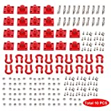 Crochet de remorquage de sauvetage de manille de remorque de voiture en métal rouge pour 1/10 RC sur chenilles Traxxas TRX4 Axial SCX10 90046 RC4WD D90 TF2 Tamiya CC01