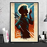 muyichen Canvas HD Print Cowboy Bebop Anime Poster Wall Art Modern Home Decoration Painting Modular Picture Artwork para La Sala De Estar Ty411 40X60Cm