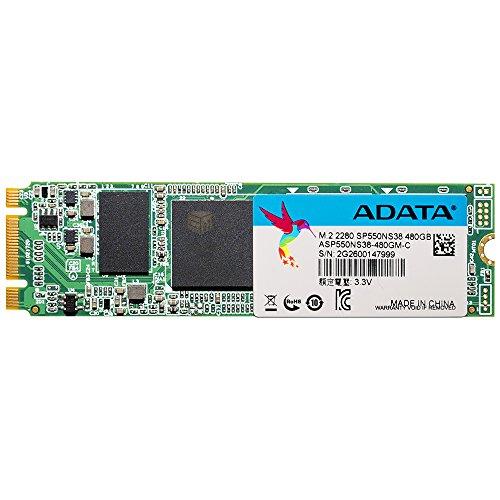 ADATA SP550 M.2 2280 480 GB 560MB/s in lettura e 510MB/s in scrittura, unità a stato solido leggera e velocità superiore (ASP550NS38-480GM-C)