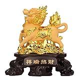 LJXLXY Feng Shui Dekoration Feng Shui Chi Lin/Kylin Reichtum Wohlstand Statue Hauptdekoration Attract Reichtum und viel Glück Home Tisch Büro Feng Shui