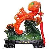 Yxsd Boda decoración de los Artes de Riqueza Ornamentos de Jade Saludos Brave Riqueza Inicio Escultura Sala de Estar Sala de Estudio Casa Peony Floral Ornamentos del Regalo