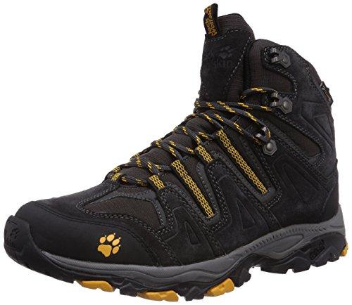 Jack Wolfskin Herren MOUNTAIN ATTACK MID TEXAPORE M Trekking- & Wanderstiefel, Schwarz (burly yellow 3800), 45.5 EU