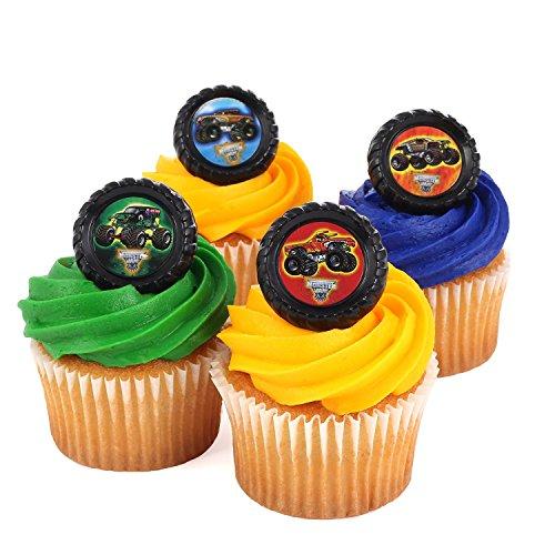 Monster Jam Cupcake Topper Rings (Set of 24)