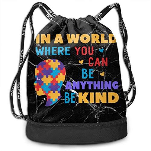 wwoman Bolsa con cordón Concienciación sobre el Autismo: en un Mundo en...