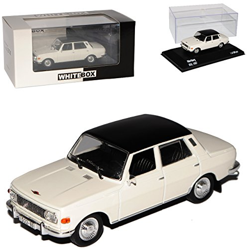 Whitebox Wartburg 353 Limousine Weiss mit Schwarz Dach 1966-1989 limitiert 1 von 500 1/43 Modell Auto