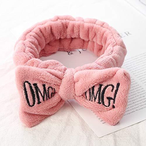 Best Quality - Women's Hair Accessories - letter omg coral fleece soft bow headbands for women girls cute hair holder hairbands hair bands headwear ha