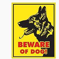 車 ステッカーデカール-警告車のステッカーは犬に注意してくださいドイツの羊飼いの傷のデカールラップトップオートバイの車の装飾PVC16cmx12cmスタイル