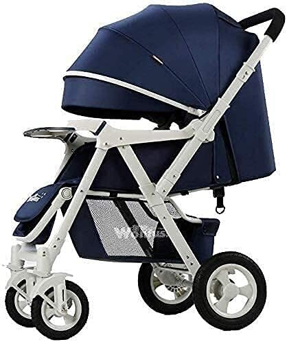 TANKKWEQ Baby Strollers Folding - Two Way Compact Travel Baby Buggies/Prams - Raincover/Windproof Warm Foot Cover/Five-Point Harness