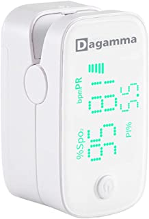 Dagamma DP250 Fingertip Pulse Oximeter, Heart Rate Measurement, Blood Oxygen Saturation Monitor SpO2 with LED Screen, IP22...