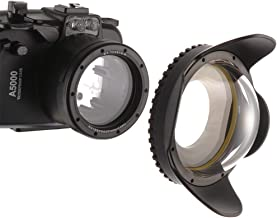 foto4easy Meikon 60M/195FT Waterproof Wide Angle Wet Correctional Dome Port Lens for Underwater Camera Housings EOSM3 RX100IV V TG-4/5 with 67mm Adapter Ring