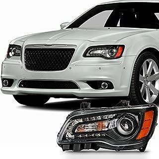 For [Angel Eye] 2011 2012 2013 2014 Chrysler 300 Halogen Type Projector Driver Left Side Black Headlight