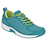 Orthofeet Proven Plantar Fasciitis, Foot and Heel Pain Relief. Extended Widths. Orthopedic Walking Shoes Diabetic Bunions Women's Sneakers, Coral Turquoise