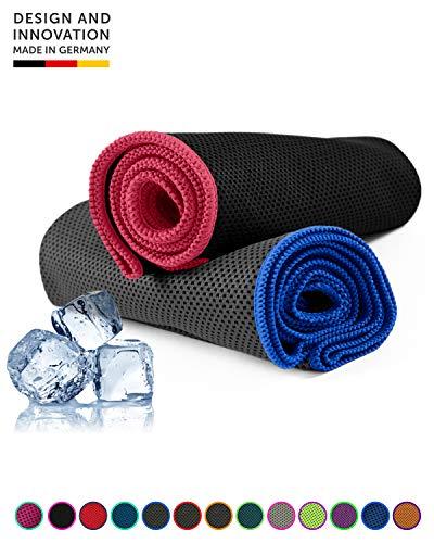 NirvanaShape ® Kühl-Tuch eiskalt mit sofortiger Kühlwirkung | kühlendes Handtuch Ultraleicht, geruchshemmend | Ideal für Sport & Freizeit | Zum Laufen, Krafttraining, Yoga, Golf, Wandern & Camping