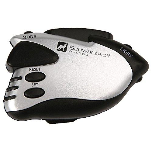 Schwarzwolf outdoor Schrittzähler, LED Rotlicht, Marke, Produkt Porte