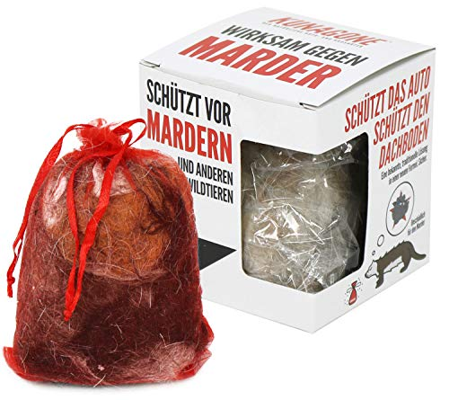 com-four® 2X Marderschreck, tierfreundliche Marderabwehr, unschädliches Fernhaltemittel aus Hundehaaren, Haustierabwehr & Wildtierabwehr, Marderschutz