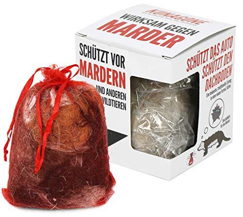 com-four® 2 Stück Marderschutz natürliche Alternative aus Hundehaaren (02 Stück)