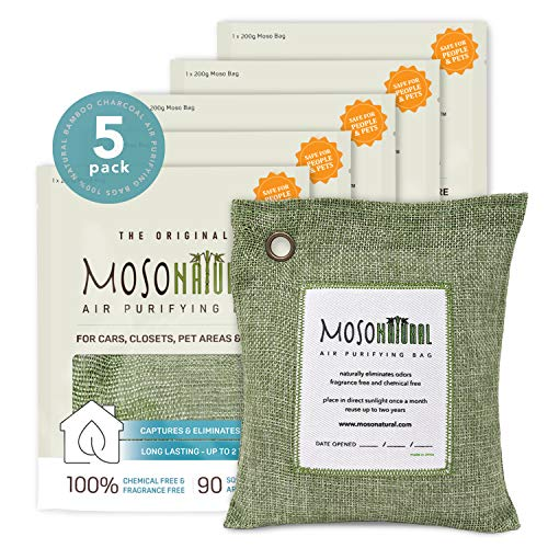 Find Bargain MOSO NATURAL: The Original Air Purifying Bag. for Cars, Closets, Bathrooms, Pet Areas. ...