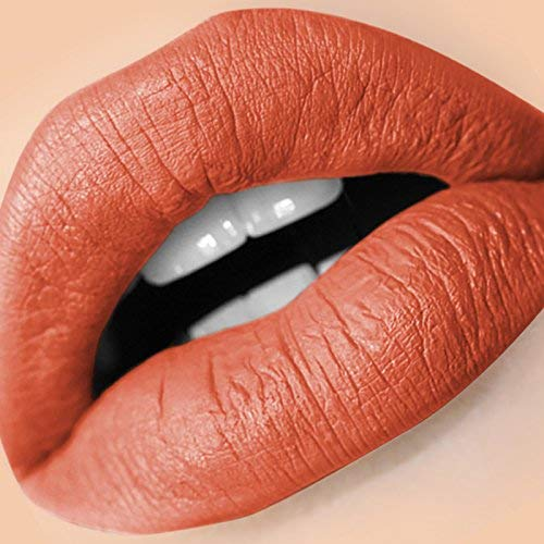 Amber Dazzle Matte Lipstick, 27 shades, Liquid Matte Lipstick, Lip Makeup for Women, with Long Lasting Lip Stain, Non Staining, Waterproof, No Transfer Lip Stick, Vegan & Cruelty Free, Brown Lipstick, Nude Lip Stick, Flirt