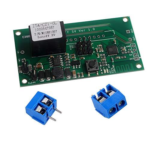 Sonoff SV Safe Voltage WiFi Switch Inalámbrico Smart Home Módulo DC 5V-24V Aplicación del teléfono Control remoto Soporte Desarrollo secundario para Amazon Alexa Asistente Google Nest DIYmalls