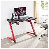 CARO – Gaming Tisch LED (rot / schwarz) - 7