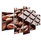 islandburner Quadri Moderni Cioccolato con Fave di Cacao Crudo Stampa su Tela - Quadro Modern Stampa su Tela Quadro EVV