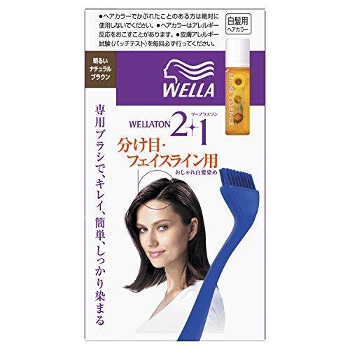 ウエラトーン2+1 分け目 フェイスライン用 明るいナチュラルブラウン 医薬部外品 おしゃれな白髪染め