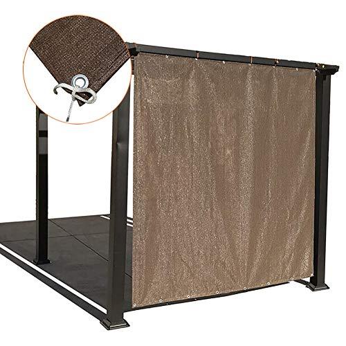 Filet d'ombrage Tissu Pare-soleil avec Œillets Sur 4 Côtés, Écran de Confidentialité D'été pour Terrasse Extérieure/Auvent/Pergola ou Gazebo, Marron (Size : 2×1.8m)