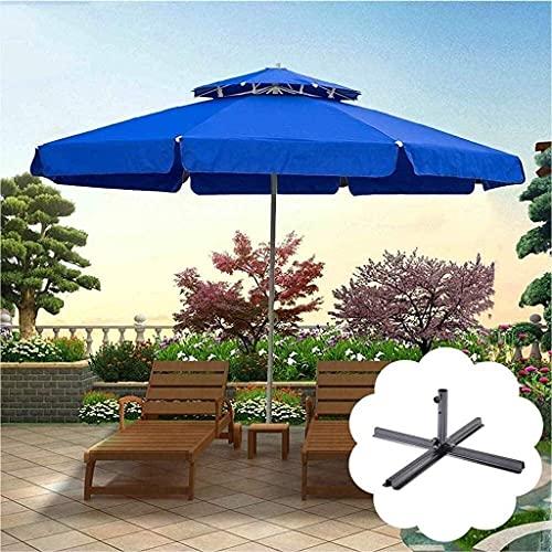 BJYG Sombrillas de jardín Sombrillas Resistentes al Viento Resistentes a los Rayos UV con Aislamiento térmico Jardines Playas y terrazas Toldos portátiles (Color: Azul)