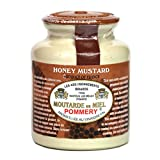 Pommery French Whole Grain Mustard with Honey in a Crock - Moutarde de Meaux, 8.8 Ounce