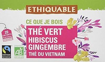 Ethiquable Thé Vert Hibiscus Gingembre Vietnam Bio et Équitable 20 Sachets Max Havelaar parent