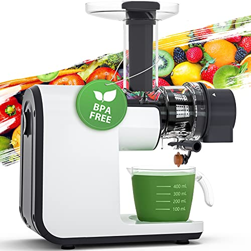 Juicer Machines, Aeitto Slow Masticating Juicer, BPA Free Slow Juicer Easy to Clean,Cold Press...