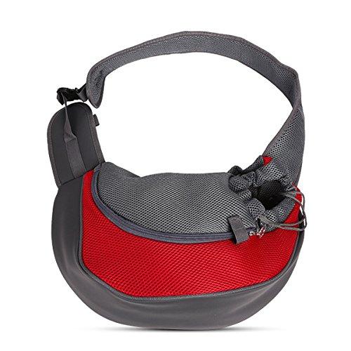 PETCUTE Hunde Tragetaschen Transporttasche für kleine Hunde und Katzen Single-Schulter Hundetragebeute Sling Tasche Hund