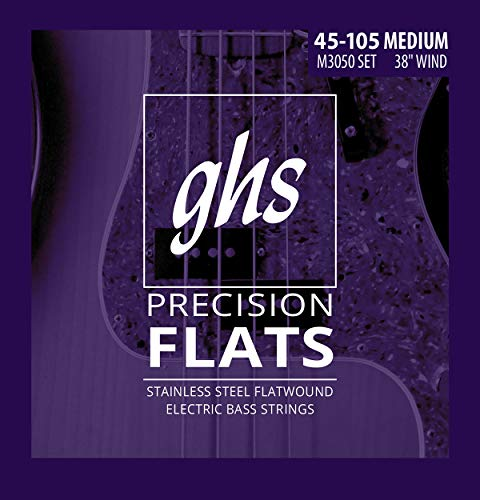 GHS Stainless Steel Precision Flatwound M3050 45-105