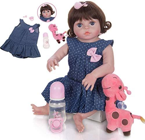 The Magic Toy ShopLifelike Reborn Baby Dolls, 19 '' 48 Cm Muñeca de silicona Reborn Alive Princess para niños Playmate Mejor juego de cumpleaños (Impermeable) Bebés hechos a mano Juguetes realistas pa