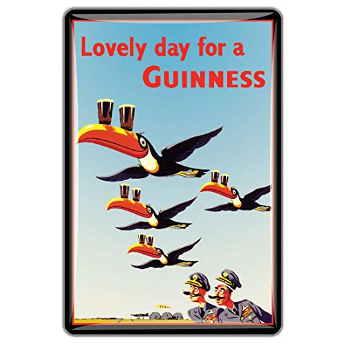 Guinness Official Merchandise Quality Epoxy Magnet With Toucans In Flight Design