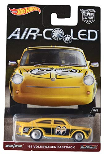 Hot Wheels Car Culture Air Cooled '65 VW Fastback, Yellow [Moon Eyes]