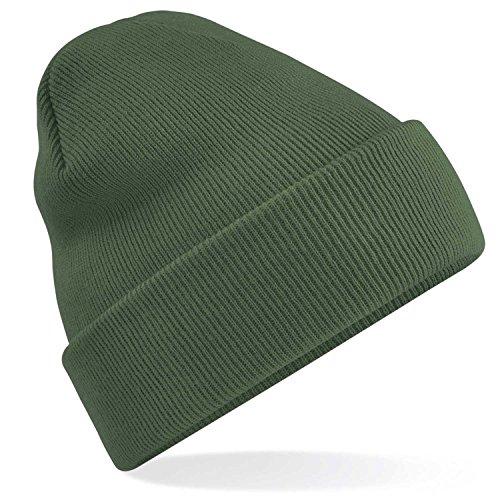 Beechfield Bonnet d'hiver unisexe Effet doux, Vert foncé