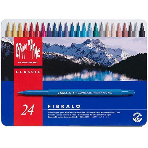 Caran D'ache Fibralo - Juego de rotuladores de color (24 unidades, caja...
