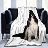 Manta de franela de forro polar ligera y acogedora para sofá, dormitorio, adultos, niños,...