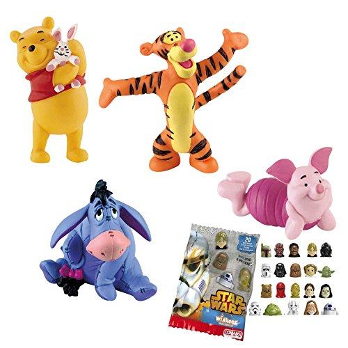 Comanso Lote 4 Figuras Bullyland Winnie The Pooh - Winnie The Pooh - Tigger - Igor - Piglet + Regalo