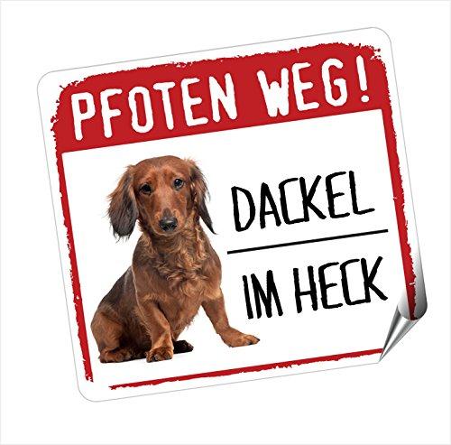 siviwonder DACKEL - Pfoten Weg Hundeaufkleber Auto Aufkleber REFLEKTIEREND Reflective