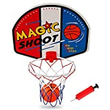 Mydio Mini Basketball Hoop Set with Ball and Pump,Over The Door Mount Shatterproof Backboard,Basketball System for Kids and Adult