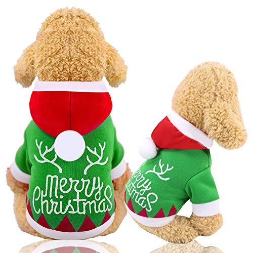 Hoodie Jacket Vest voor Hond & Kat, Antler Decoratieve Lijnen Jas in Koude Winter, Dik Katoen Winddicht En Sneeuwdicht Vest met Kerstmis, XTM122