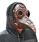 Acid Tactical Plague Doctor Mask Halloween Bird Beak Raven Steampunk Dr. Crow Copper