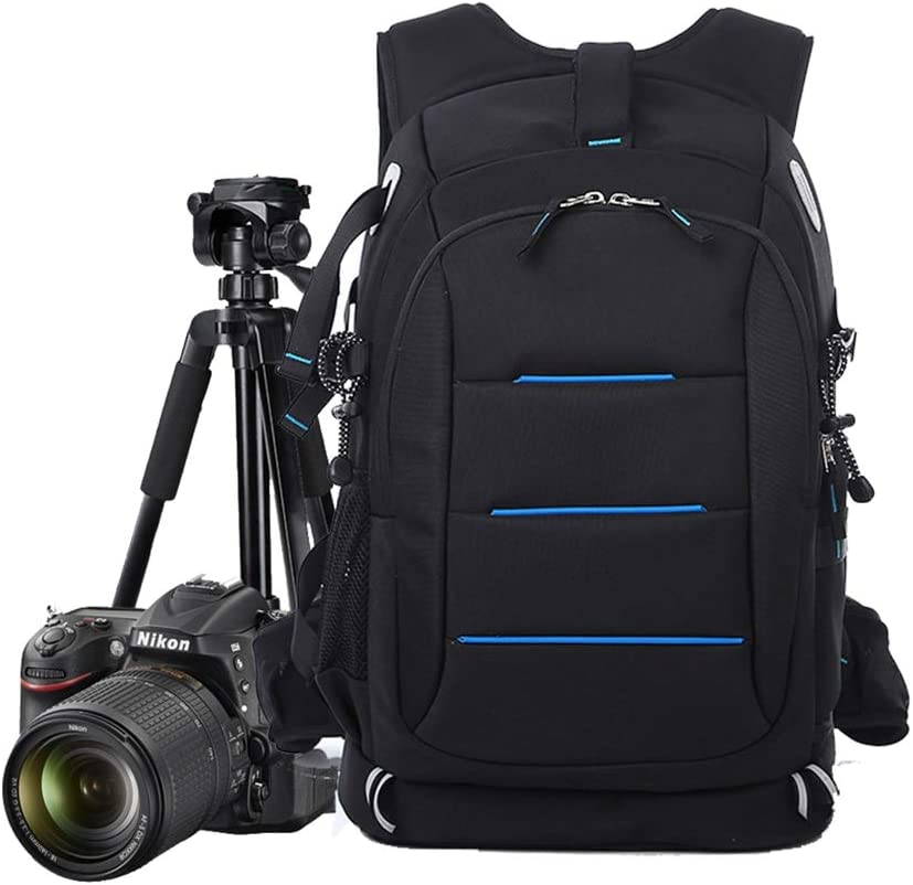 WUZHENG Camera Backpack DSLR//SLR Waterproof Backpack for Canon Nikon Sony with 14 Laptop Compartment