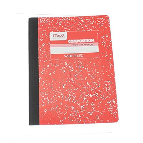 Mead Composition Notebook, Comp Book, carta a righe ampie, 100 fogli, 20,9 x 7-1 2  , moda, colori assortiti, colore selezionato può variare, 1 libro (9918)